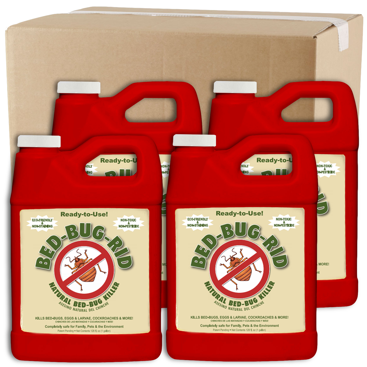 Wholesale Bed-Bug-Rid 1 Gallon Refill Jug Case