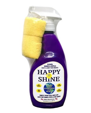 Happy Shine: 32oz ready to use spray with microfiber cloth
